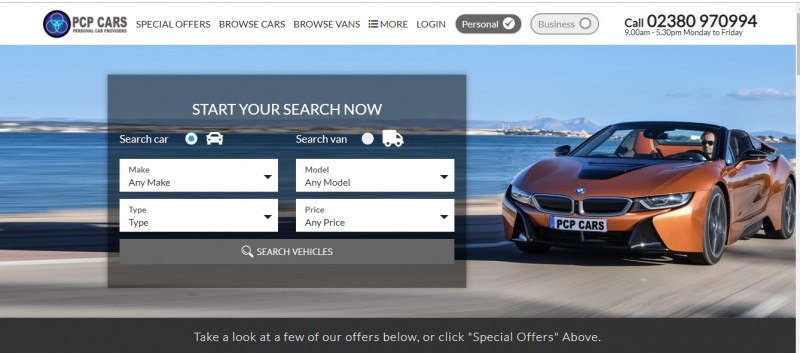 PCP Cars new Website